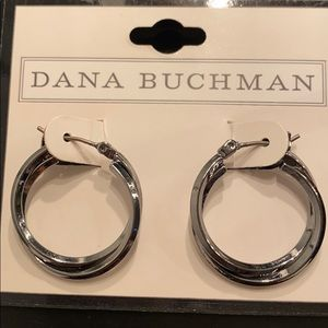 Dana Buchman Shiny Pewter Earrings